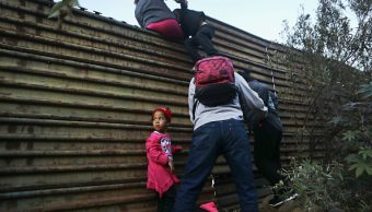 Foto: Migrantes hondureños intentan ingresar a EU, 4 enero 2019, Tijuana, BC