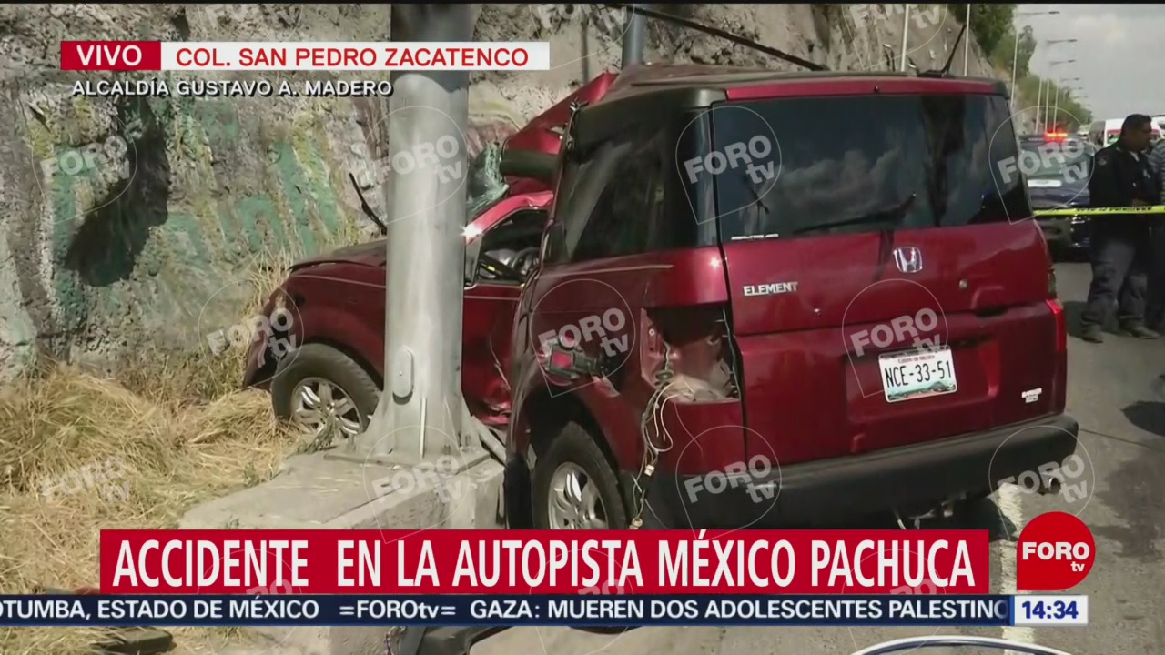 Foto: Muere mujer en accidente en la México-Pachuca