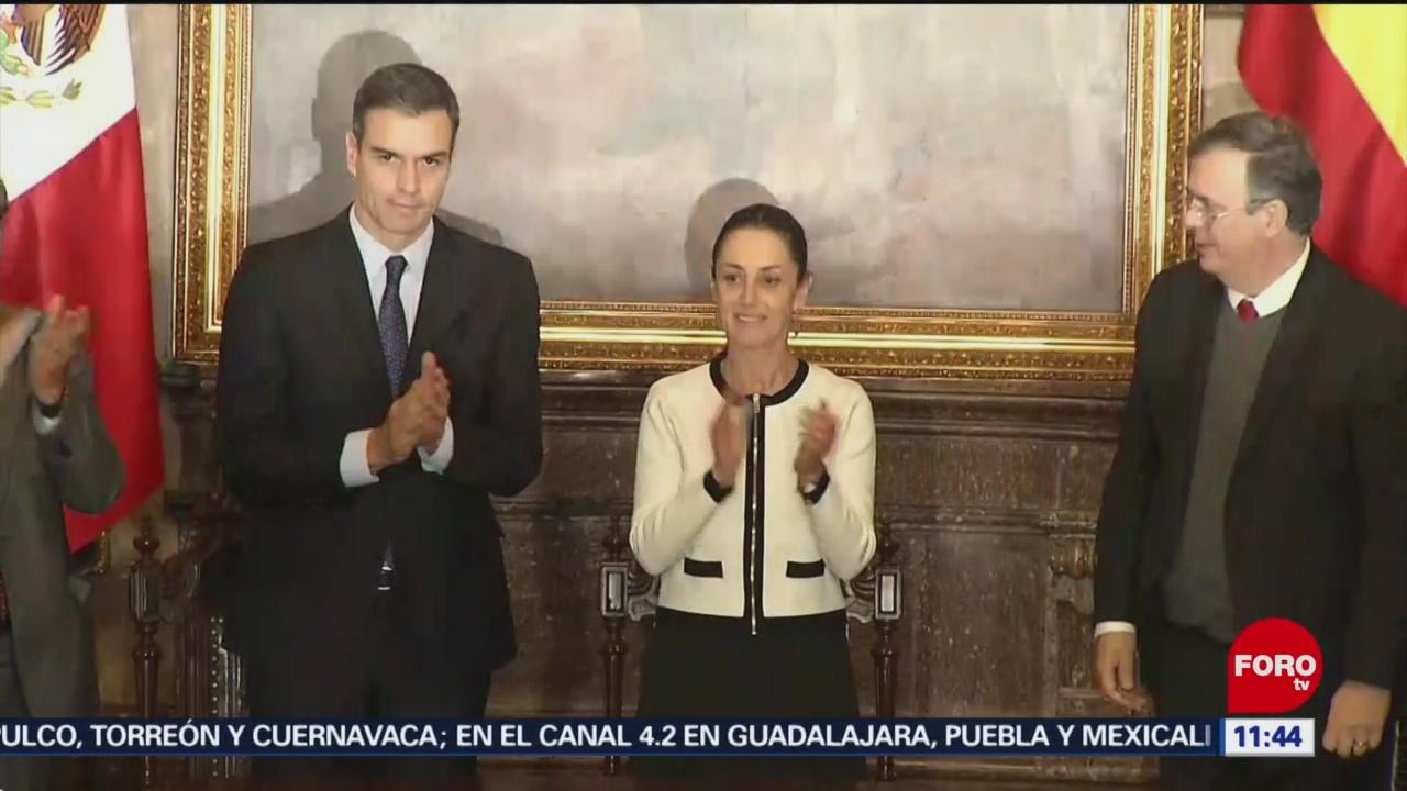 Nombran Huésped Distinguido a jefe de gobierno español en CDMX