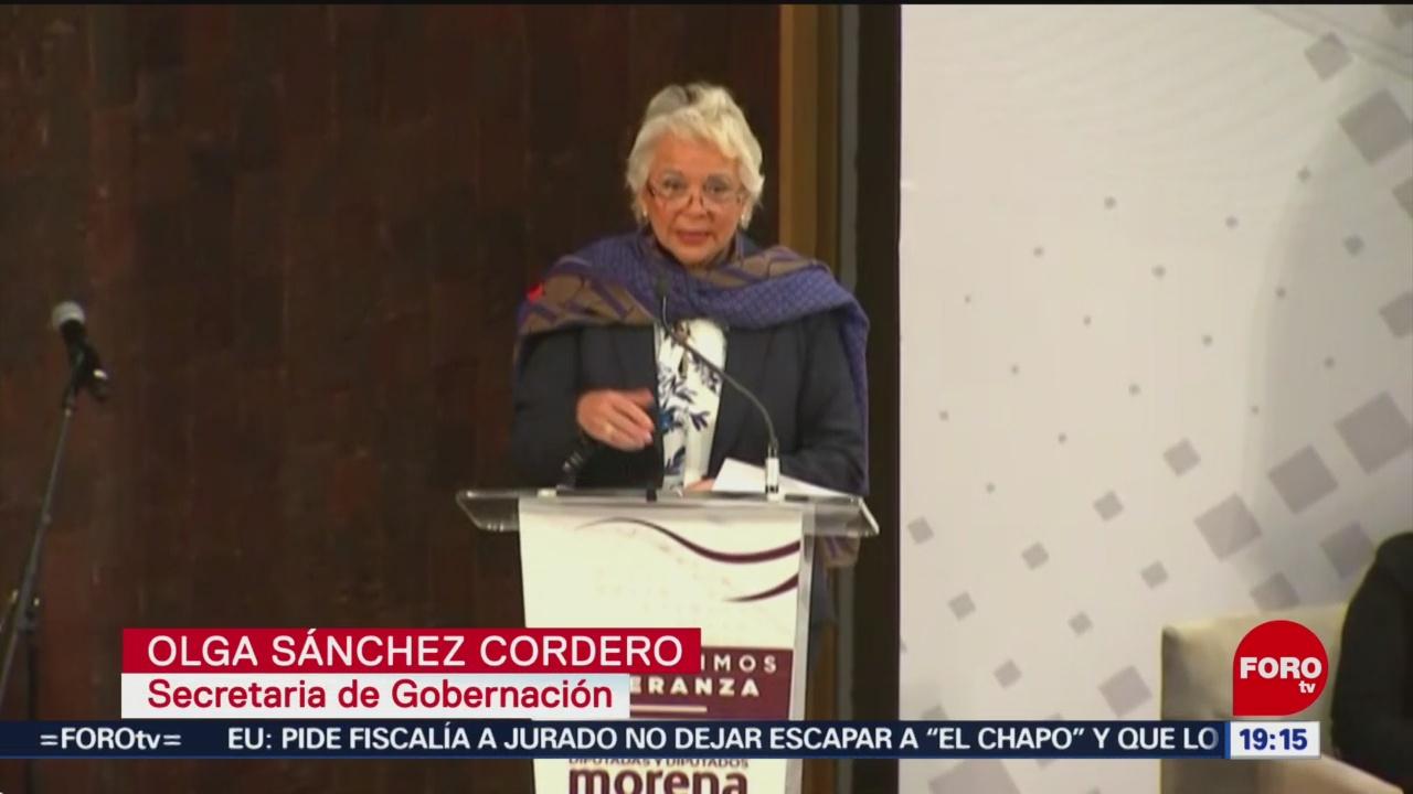 Foto: Olga Sánchez Diputados Morena Aprobar Reformas Pendientes 30 de Enero 2019