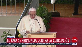 Para Francisco se pronuncia contra la corrupción en Panamá