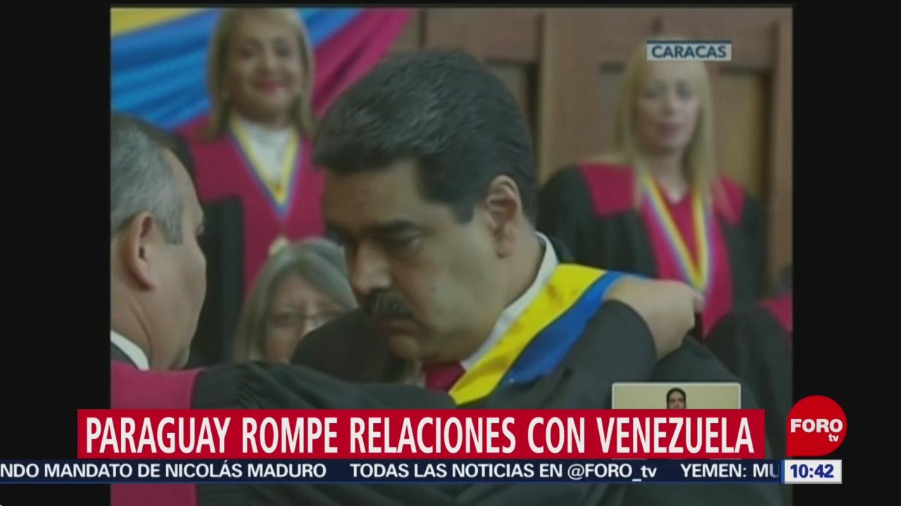 Paraguay termina relaciones con Venezuela tras posesión de Maduro