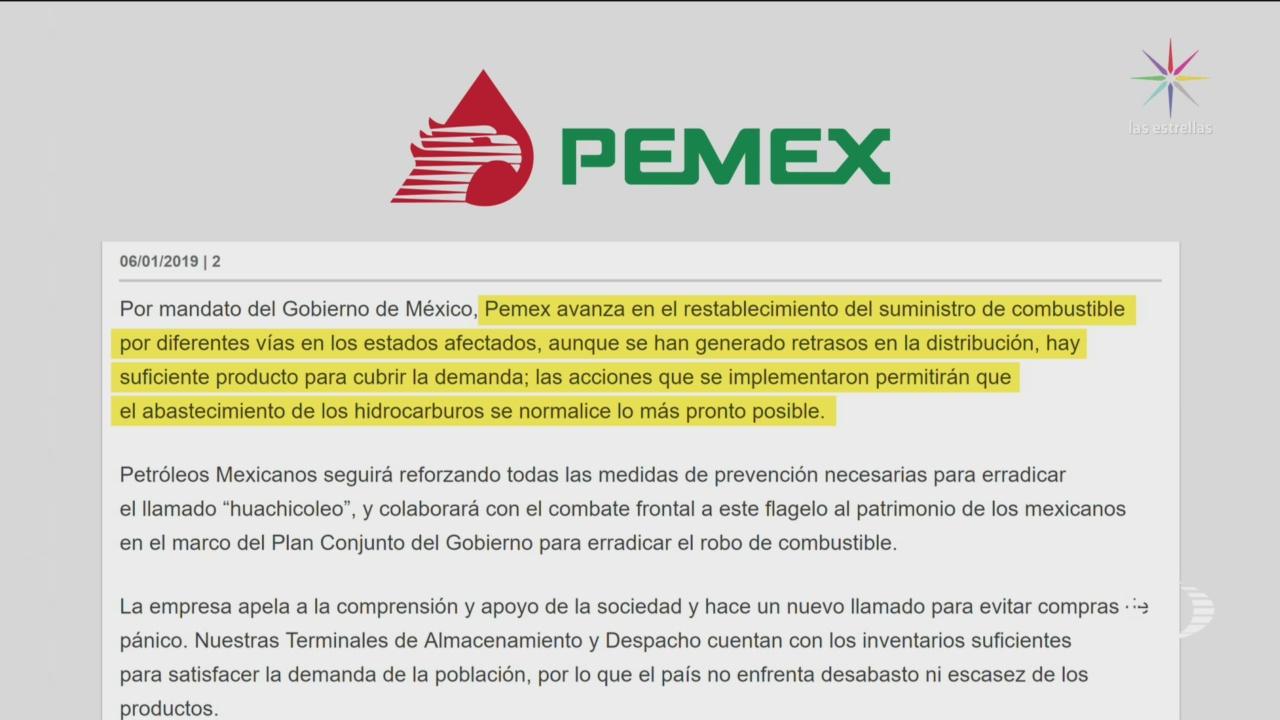 Pemex Avanza Restablecimiento Suministro De Combustible