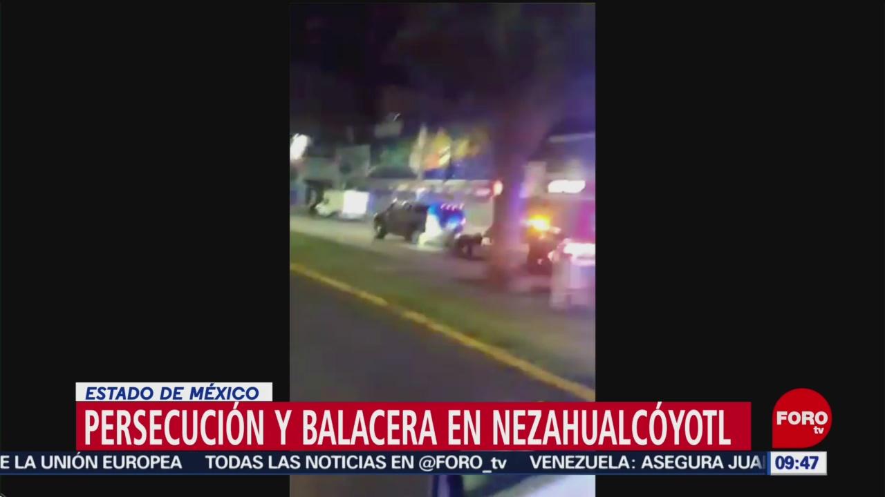 Foto:Persecución y balacera en Nezahualcóyotl, 27enero 2019