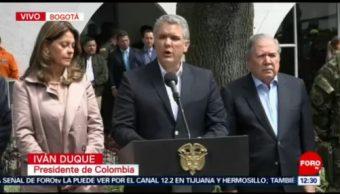 Presidente de Colombia guarda un minuto de silencio por víctimas de atentado
