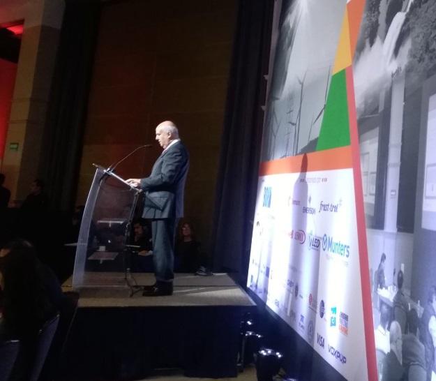 Foto: El presidente de la ANTAD, Vicente Yáñez Solloa, durante un discurso en septiembre de 2018 (Twitter: @ANTADMx)
