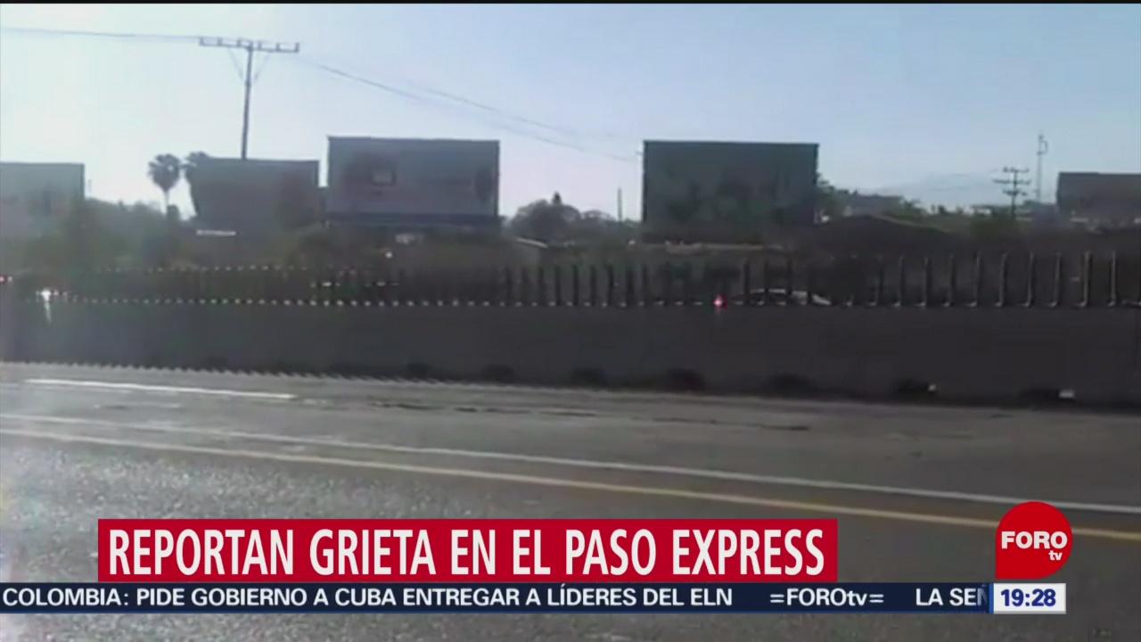 Reportan Nueva Grieta Paso Exprés De Cuernavaca