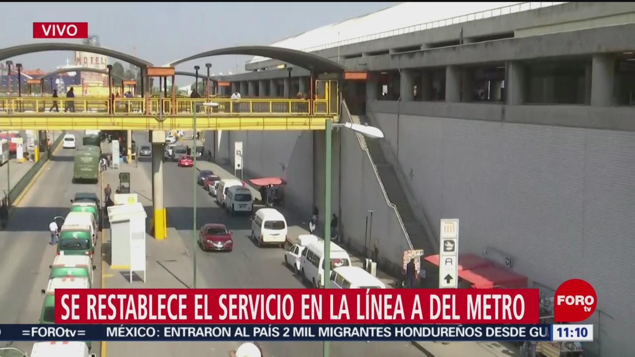 Restablecen el servicio en la Línea A del Metro CDMX