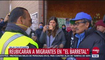Reubicarán a migrantes en 'El Barretal', Baja California