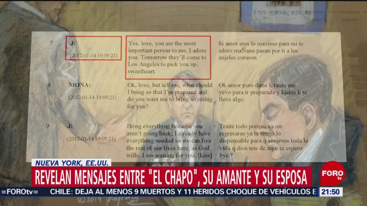 Revelan Mensajes 'El Chapo' Amante Esposa