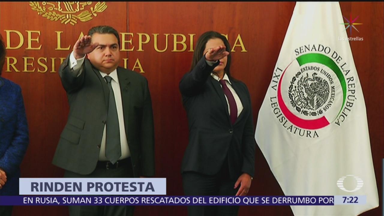 Rinden protesta senadores suplentes de Moreno Valle y García Arrieta