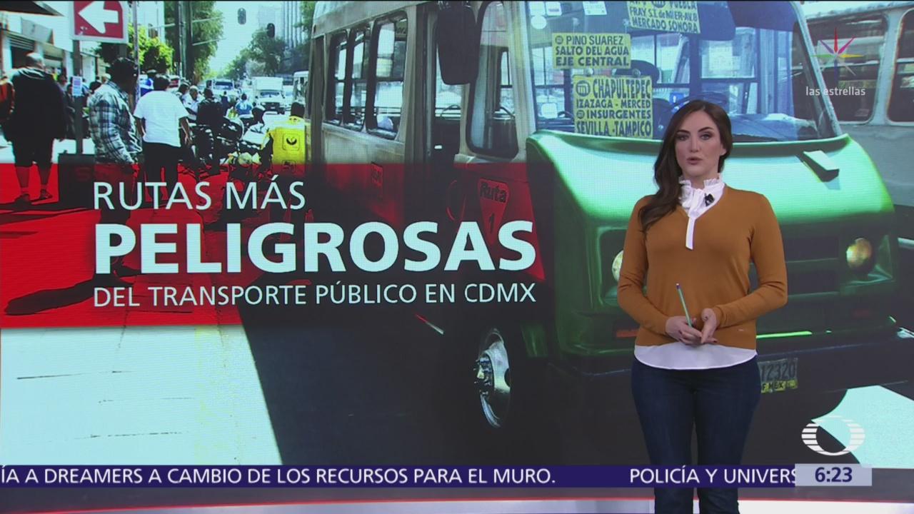 Rutas más peligrosas de transporte público en CDMX