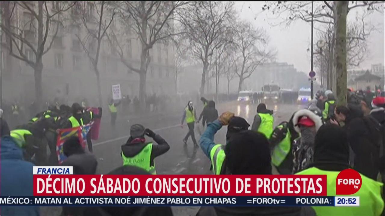 Se registran nuevas protestas de 'chalecos amarillos' en Francia
