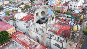 12 templos católicos CDMX, no habitables tras sismo 19S