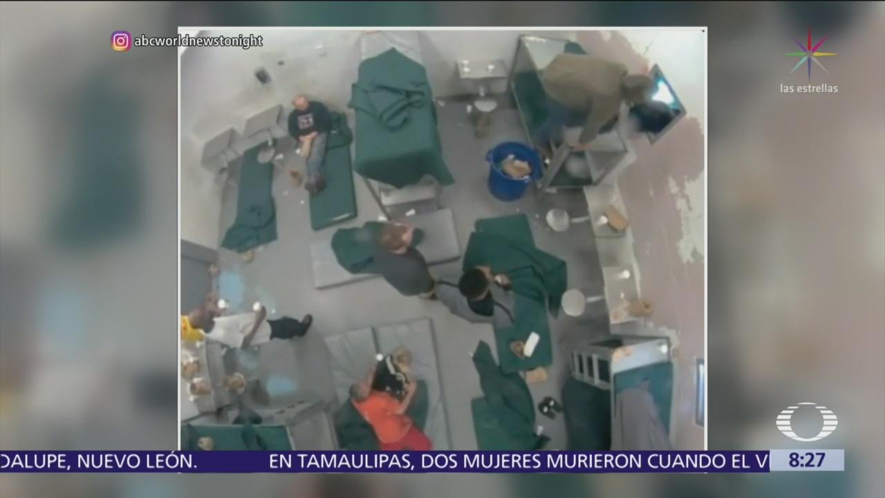 Tres reclusos escapan por la ventana de una cárcel en EU