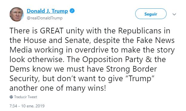 Trump emite mensaje sobre la seguridad fronteriza. (@realDonaldTrump)