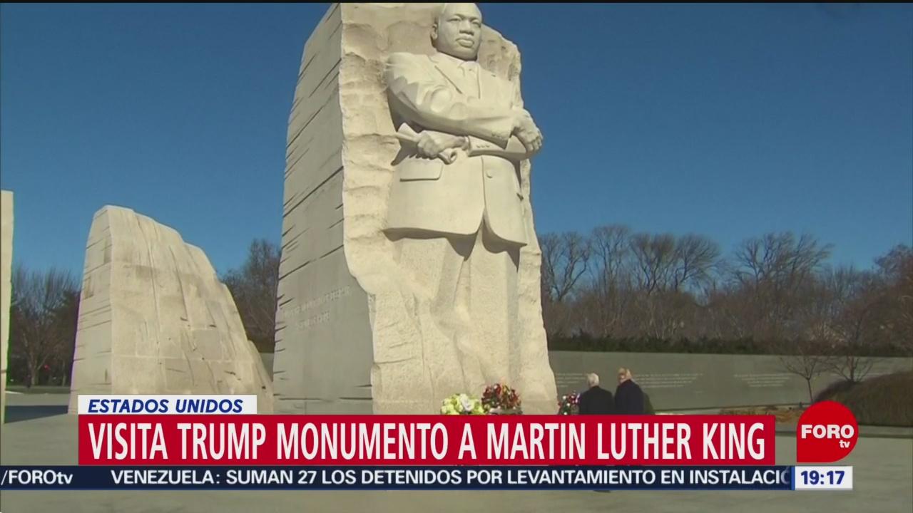 Trump Pence Visita Monumento Martin Luther King