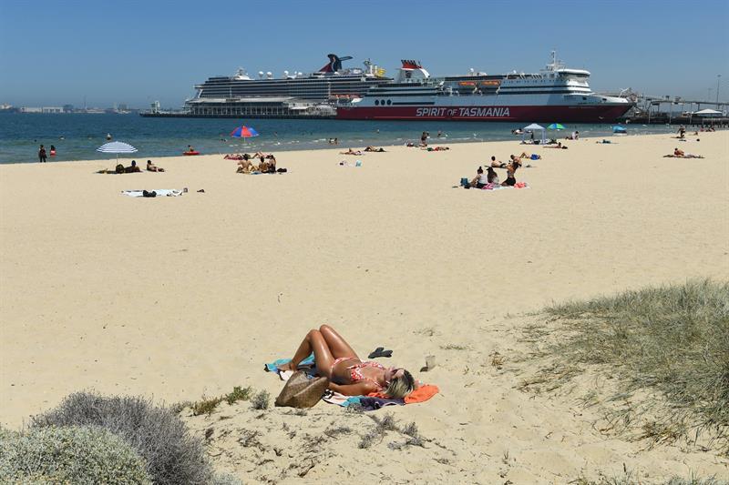 playa emlbourne australia ola de calor