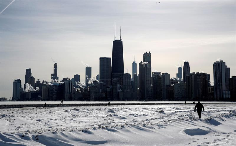 foto chicago ola frio vortice polar congelamiento 1 febrero 2019