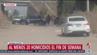 FOTO: Al menos 20 homicidios el fin de semana en Guanajuato, 17 febrero 2019