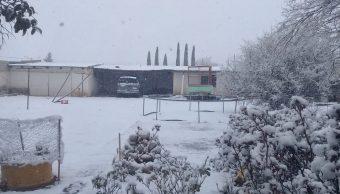 Foto: Alerta amarilla en Chihuahau por nevadas, 19 de febrero 2019. Twitter @CEPC_Chih