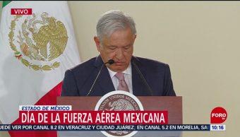 FOTO: AMLO encabeza ceremonia del Día de la Fuerza Aérea Mexicana,10 febrero 2019