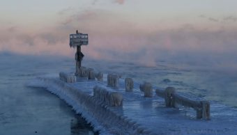 foto lago michigan chicago 30 enero 2019