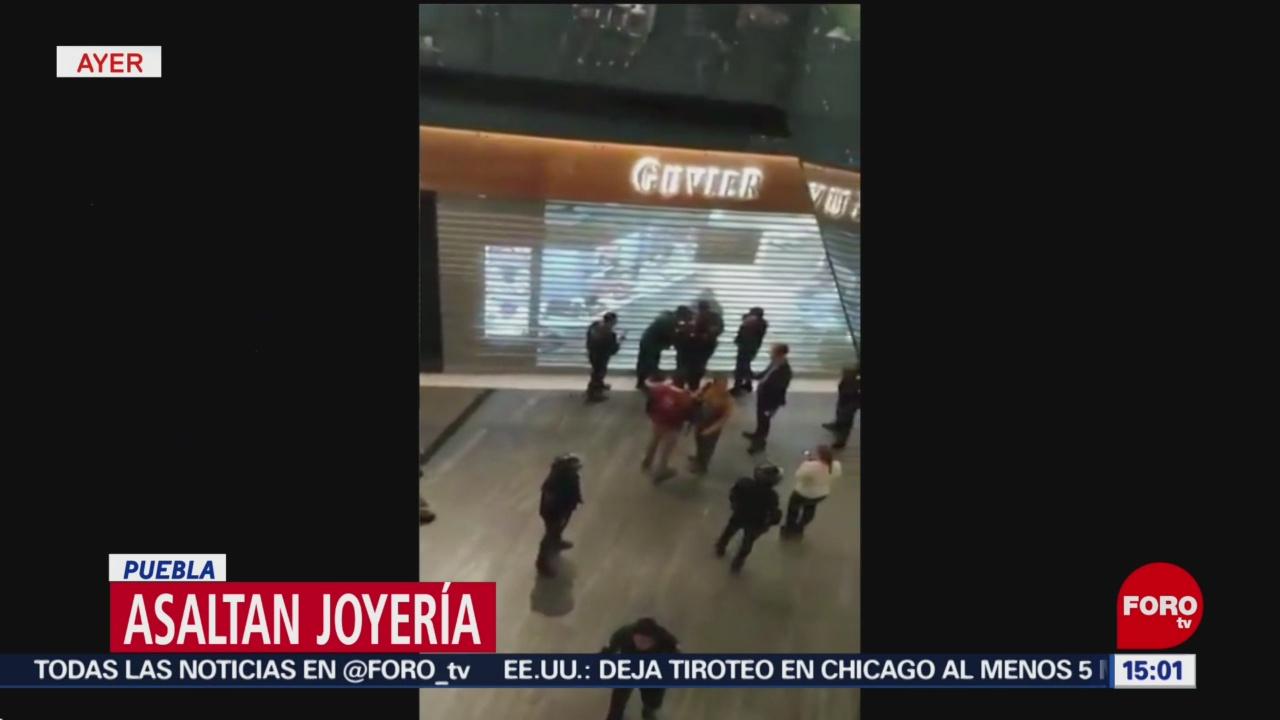 918871f73833 Asaltan joyería en centro comercial de Puebla