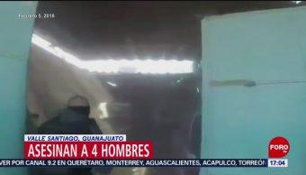 Foto: Asesinan a sangre fría a cuatro personas en vulcanizadora