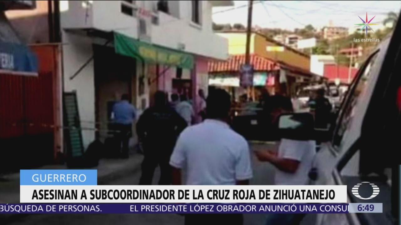 Asesinan al subcoordinador de la Cruz Roja en Zihuatanejo