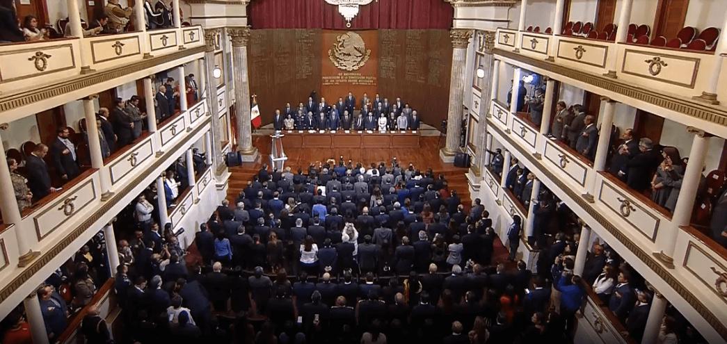 Foto: Ceremonia de aniversario de la Constitución, 5 febrero 2019, Querétaro, México