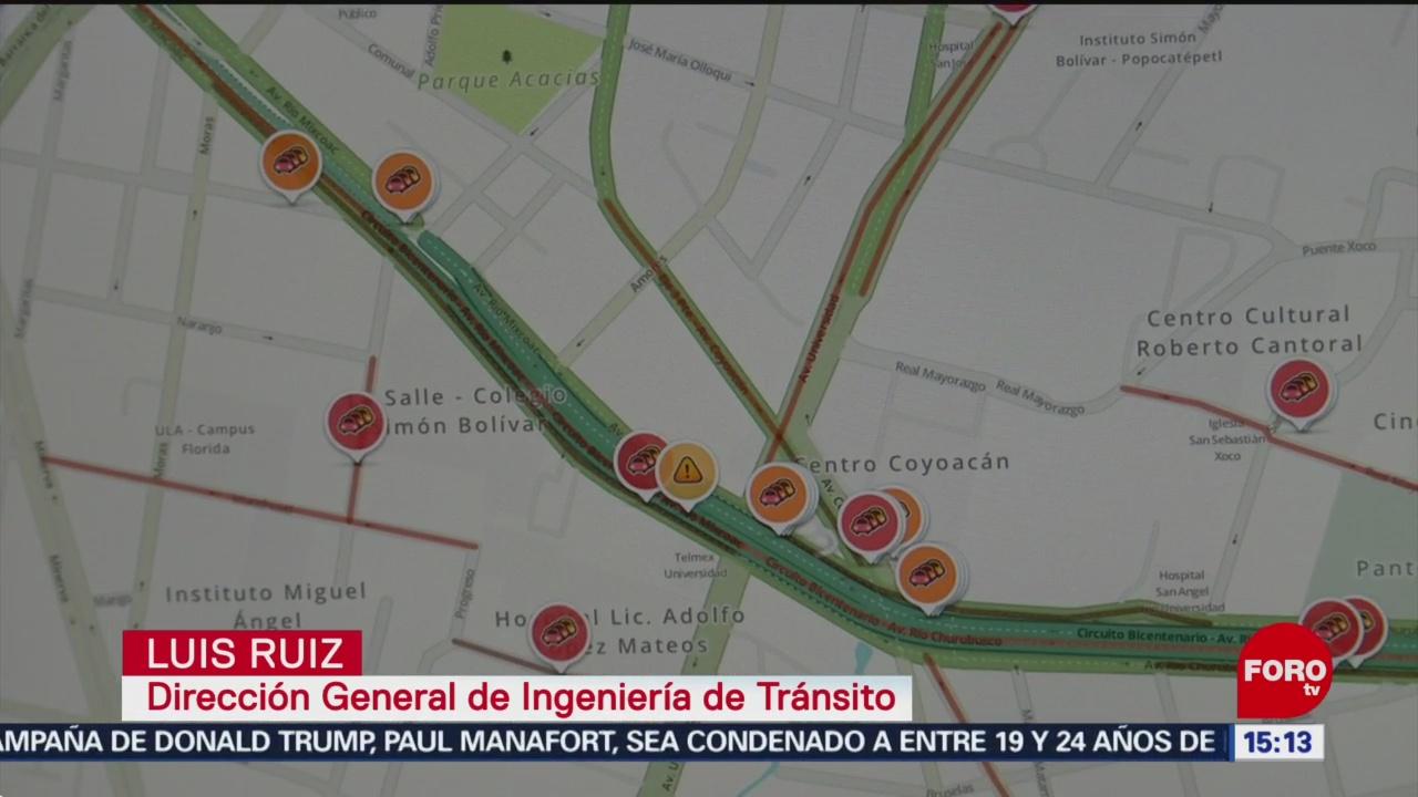 FOTO: Control de Tránsito usará Waze para monitorear percances en CDMX, 16 febrero 2019