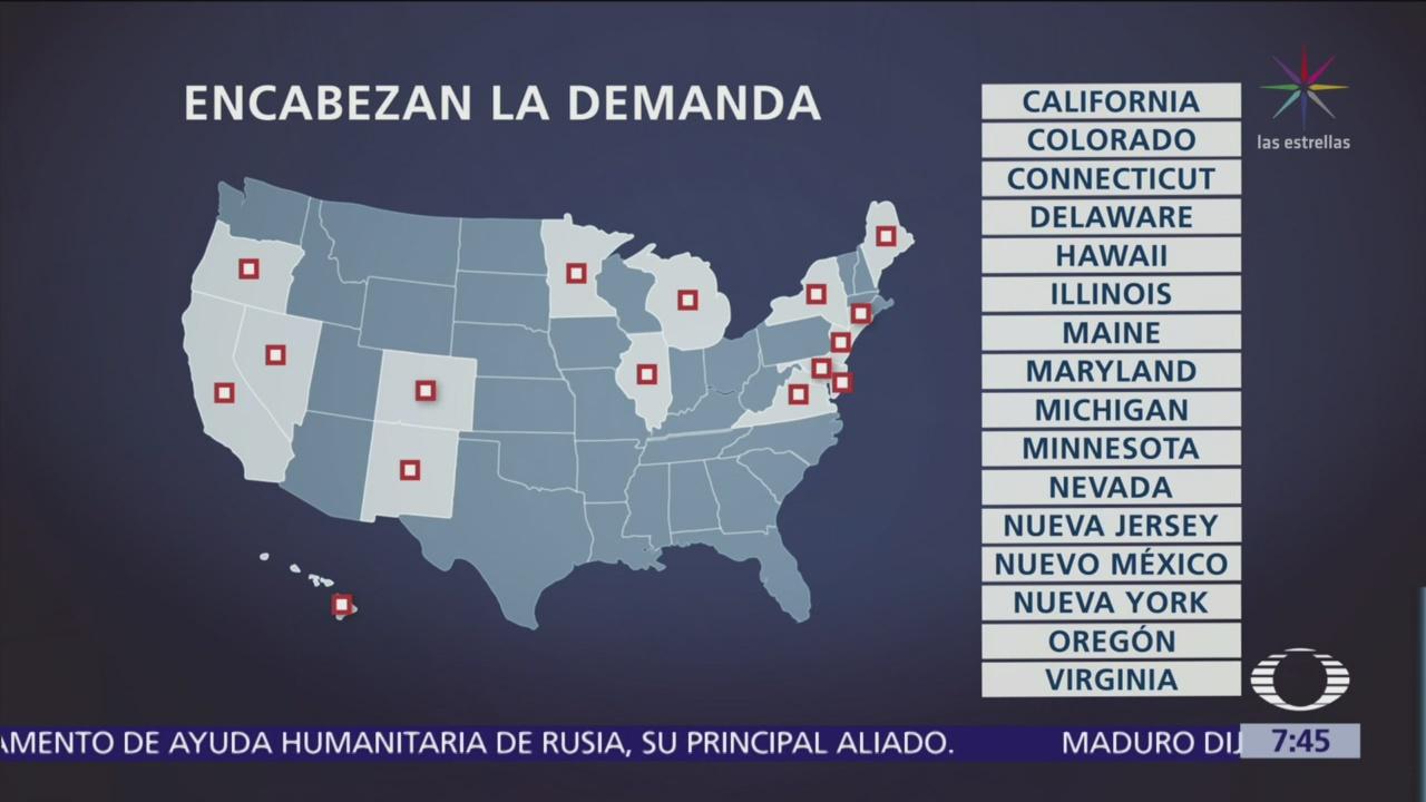 Dieciséis estados demandan a Trump