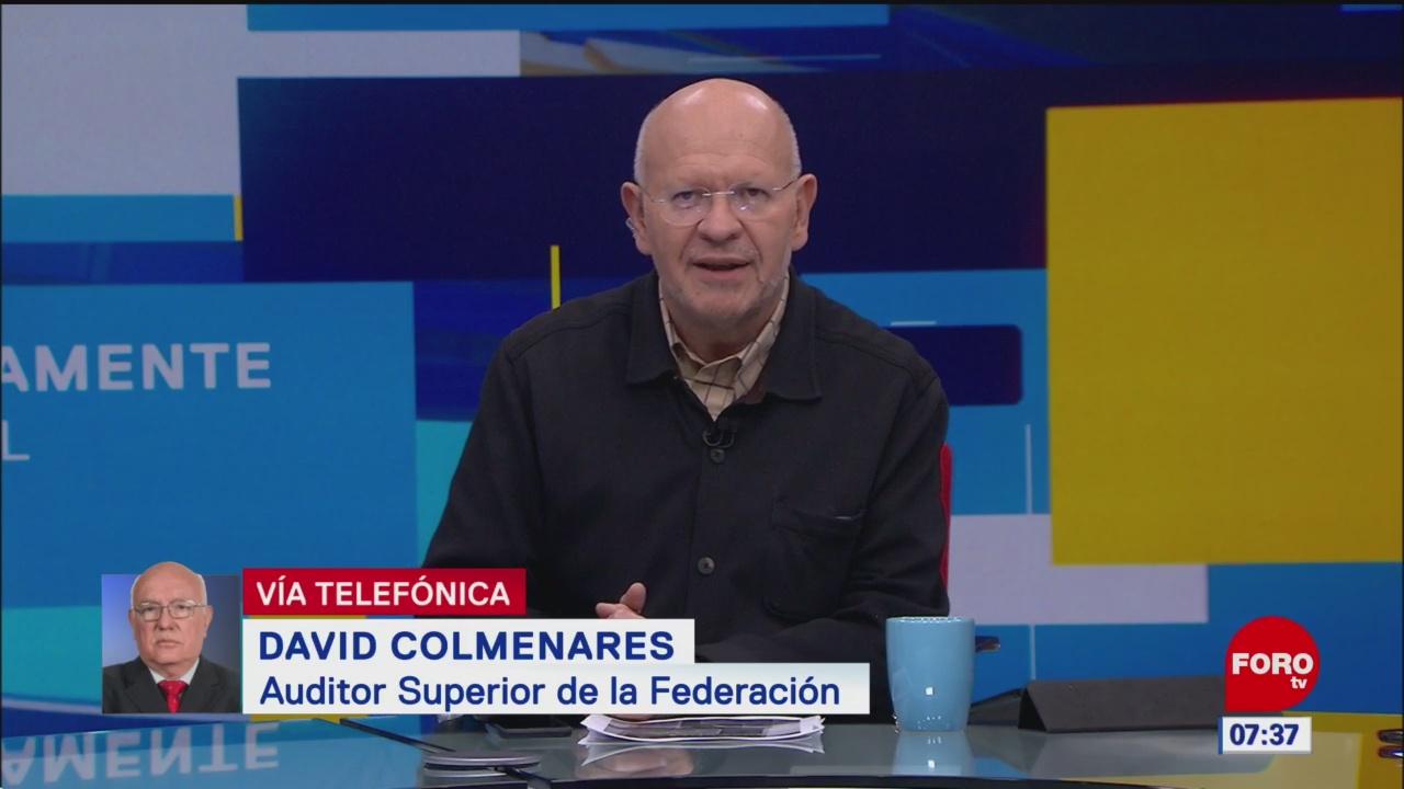 Encontrado en la Cuenta Pública 2017 irregularidades, dice David Colmenares