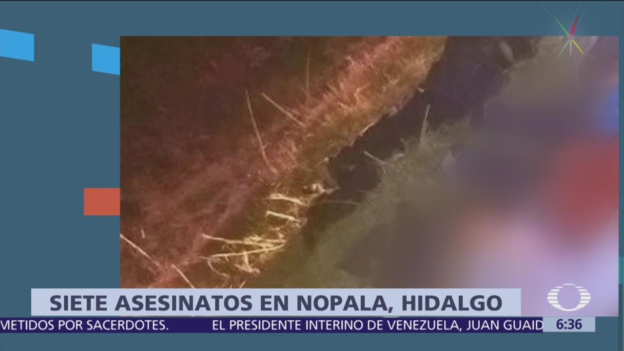 Encuentran los cuerpos de 7 personas ejecutadas, en Hidalgo