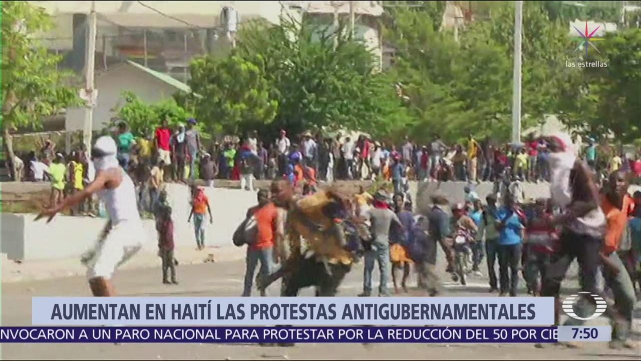Exigen renuncia del presidente de Haití por políticas económicas