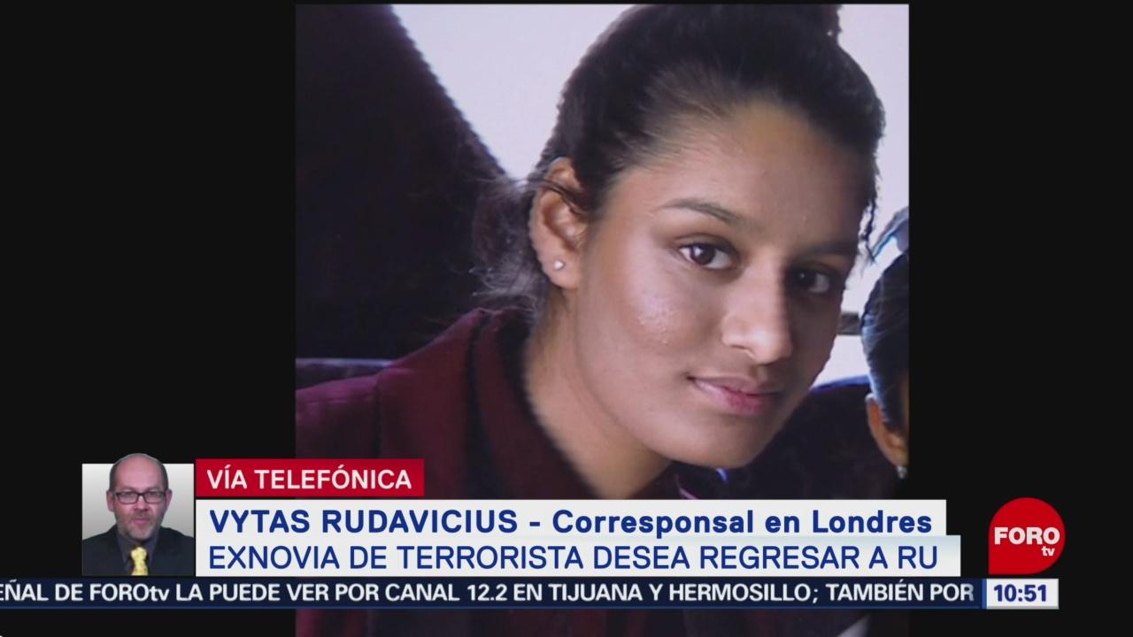 FOTO: Exnovia de terrorista desea regresar al Reino Unido, 16 febrero 2019