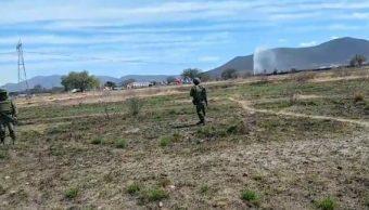 Foto: fuga de combustible en San Juan del Río, Querétaro, 25 de febrero 2019. Twitter @AlMomento_Qro