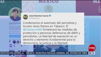Gobierno de México y CNDH condenan asesinato de periodista
