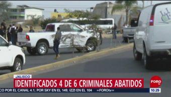 Identifican a delincuentes que murieron en enfrentamiento en Jalisco