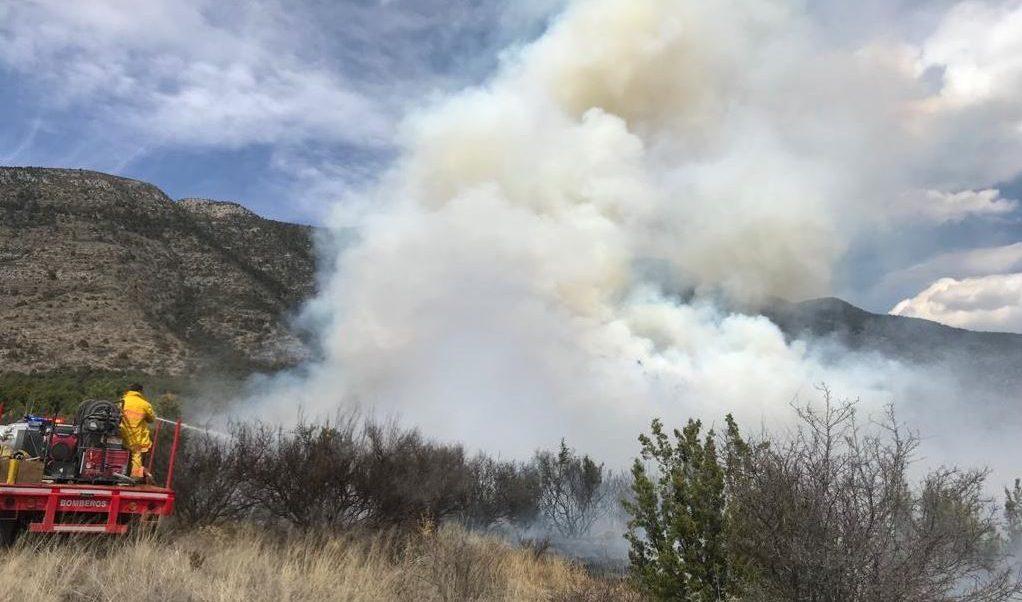 Foto: El fuego ya está controlado en más de un 80 por ciento, el 23 de febrero de 2019 (Twitter @GobDeCoahuila)