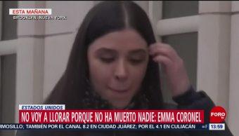 Foto: La reacción de Emma Coronel
