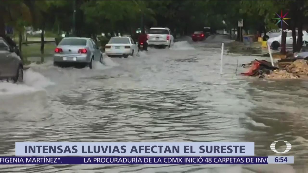 Foto: Lluvias intensas afectan Cancún y Playa del Carmen