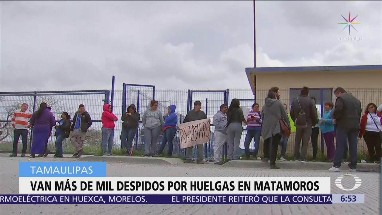 Más de mil personas han sido despedidas por huelgas en maquiladoras