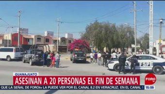 Foto: Matan a 20 personas durante el fin de semana en Guanajuato