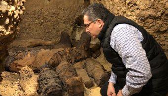Foto: Descubren grupo de momias que datan de la época ptolemaica en la provincia de Minia, Egipto, 3 febrero 2019