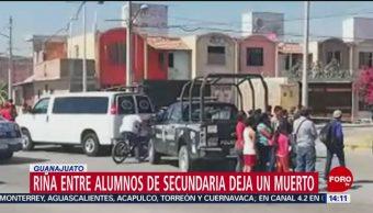 FOTO: Muere un estudiante por una riña en Guanajuato, 16 febrero 2019