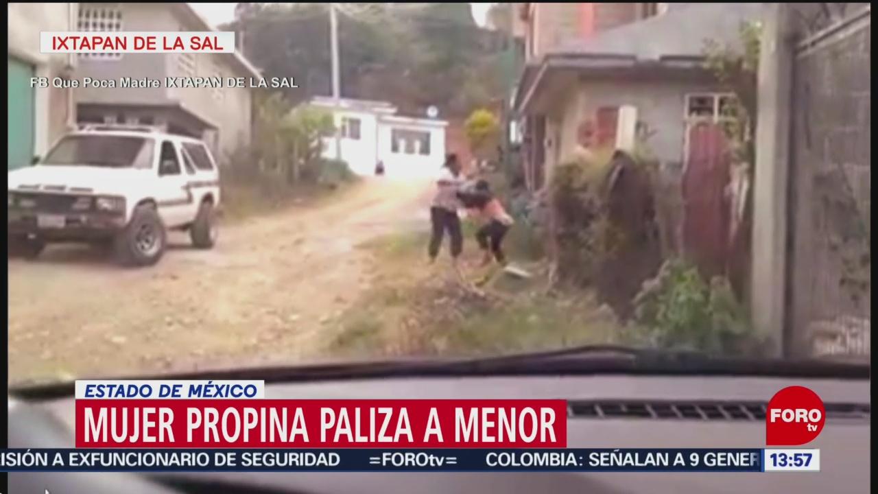 Foto: Mujer da golpiza a su hijo, en Edomex