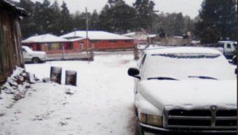 Foto: Nevadas en Durango, 21 de febrero 2019. Twitter @CEPCDurango