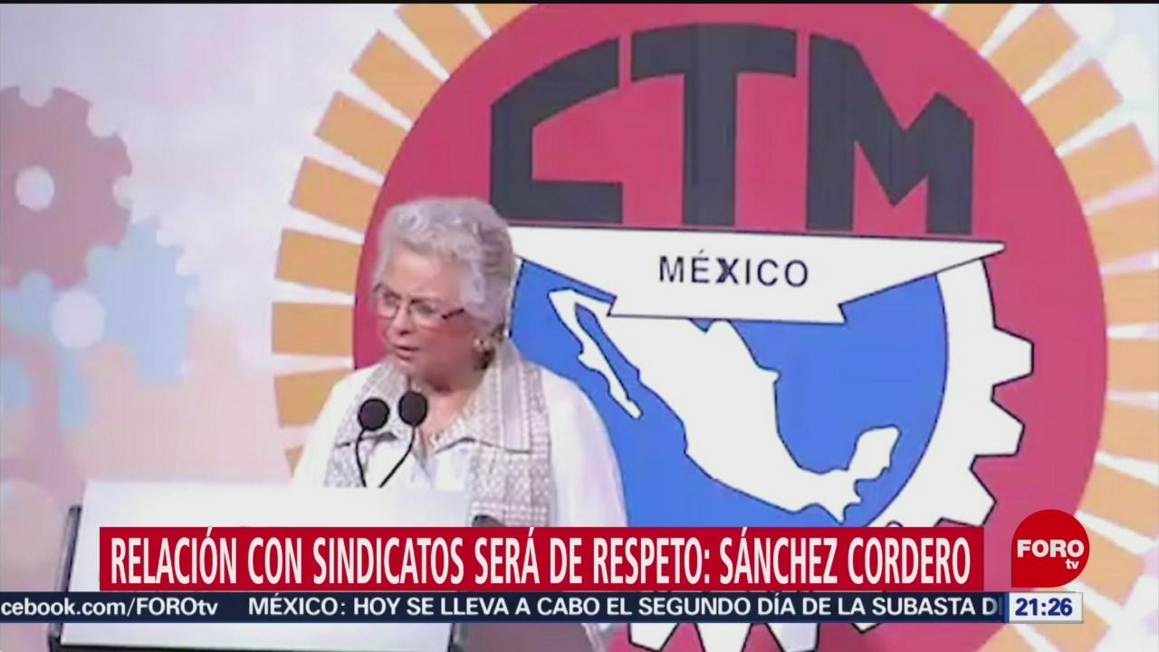FOTO: No habrá apoyos a sindicatos: Sánchez Cordero, 24 febrero 2019